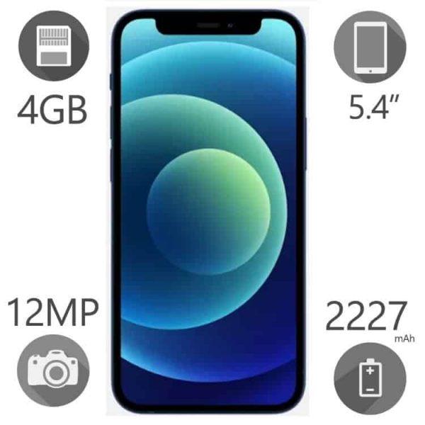 گوشی موبایل اپل مدل iPhone 12 mini دو سیم کارت ظرفیت ۱۲۸ گیگ رم ۴ ZAA
